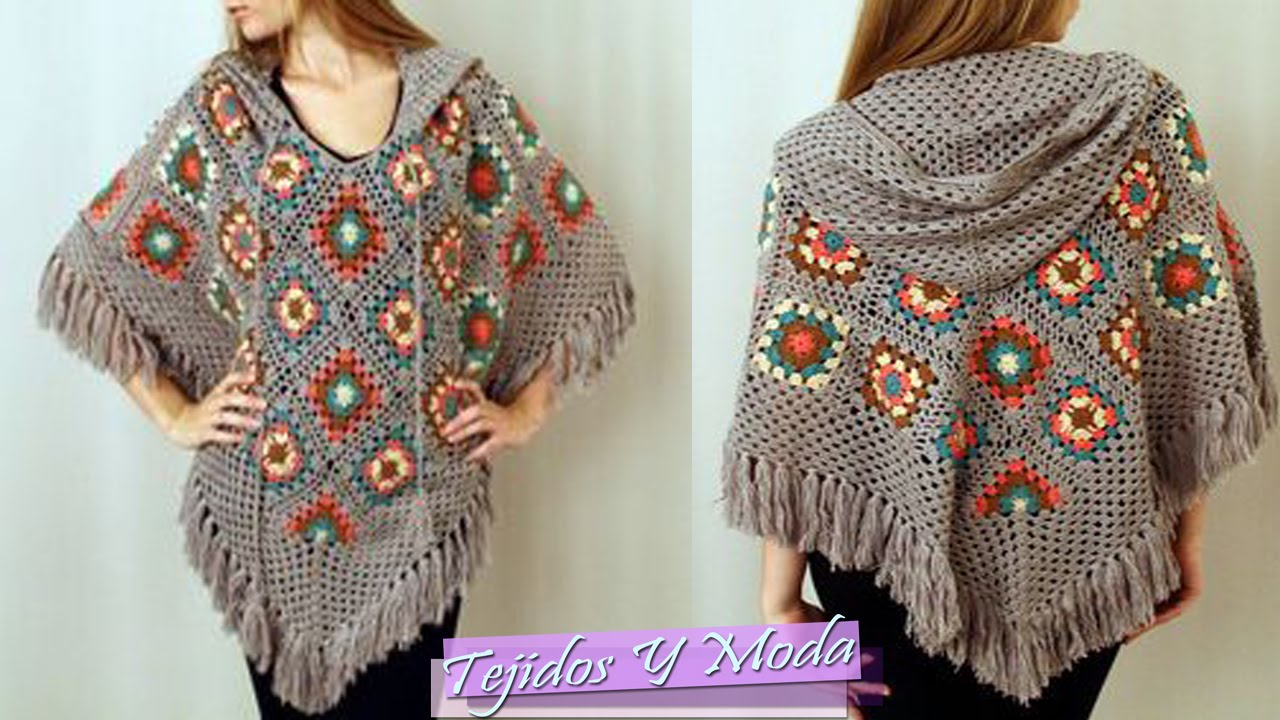 Poncho Tejido a Crochet  Hermosos Diseos  YouTube