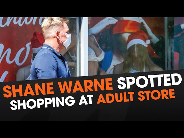 Shane Warne Spotted Shopping At Adult Store   Triple M