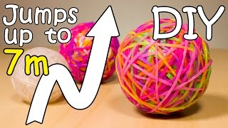 DIY Bouncy Ball Out Of Rainbow Loom Bands - Super Ball Jumps Up To 7 meters high