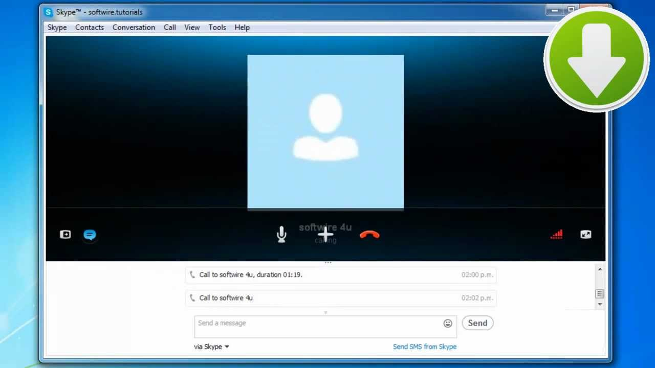 how to show video on skype