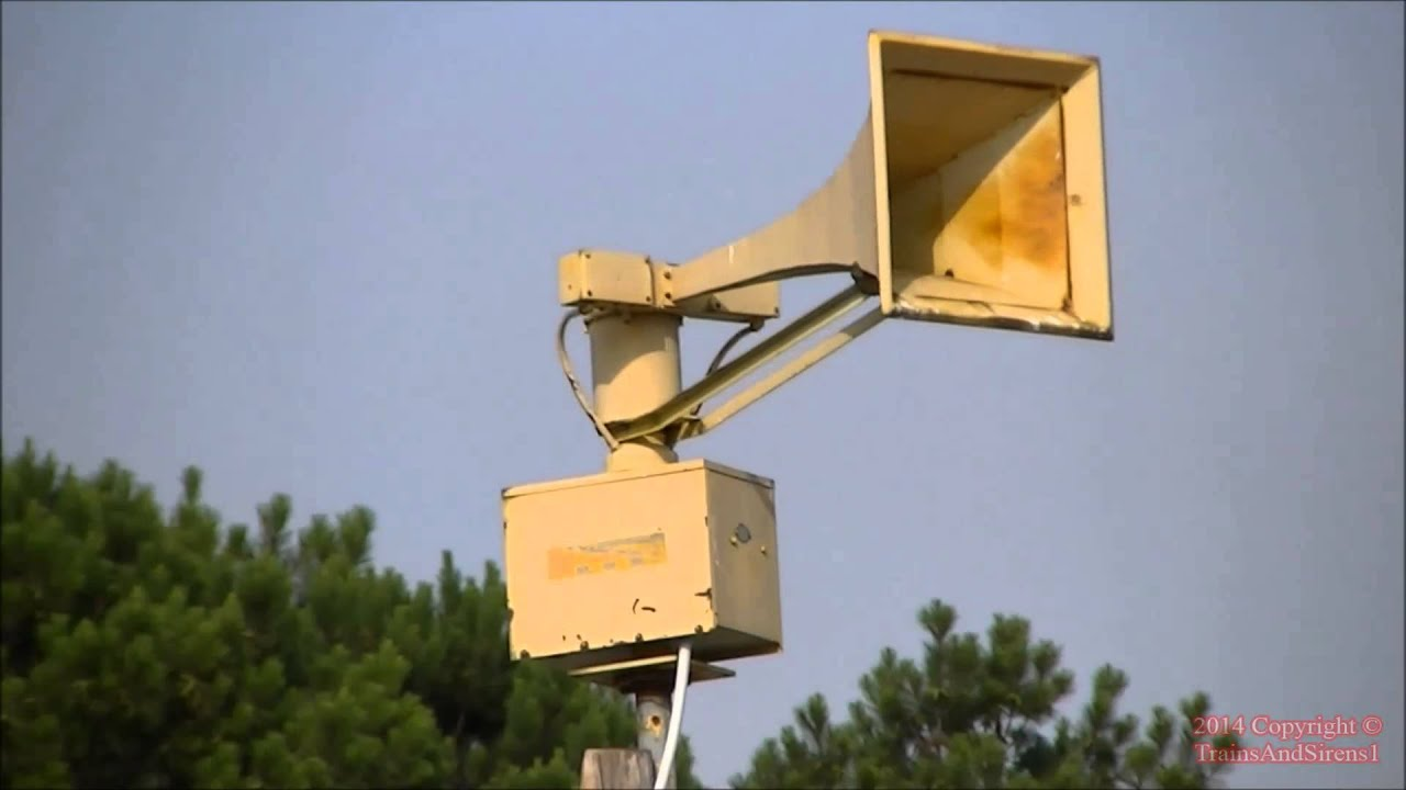 Federal Signal Thunderbolt 1003 Monthly Tornado Siren Test