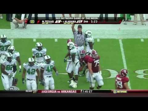 2009 North Texas vs. #4 Alabama Highlights