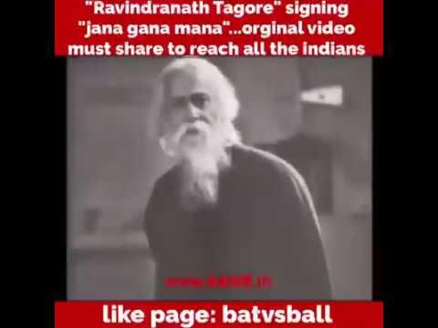 Rare video of Rabindranath Tagore singing national anthem