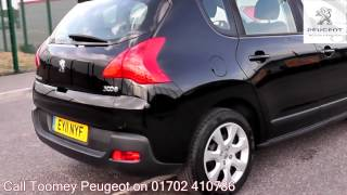 2011 Peugeot 3008 Active 1.6l Nera Black Metallic EY11NYF for sale at Toomey Peugeot Southend