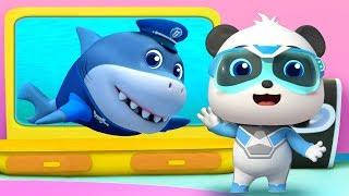 Police Shark Vs Bid Bad Wolf | Baby Shark | Kids Cartoon | Kids Videos | Kids Songs | BabyBus