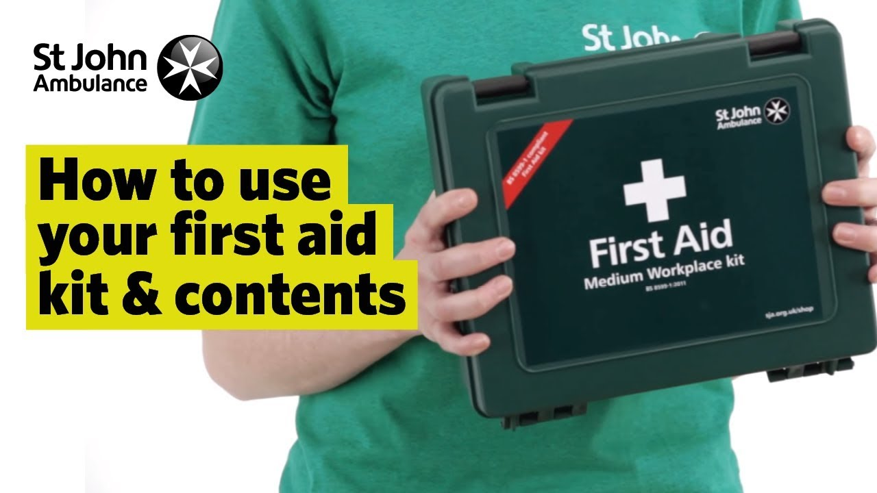 How To Use Your First Aid Kit Contents First Aid Training St