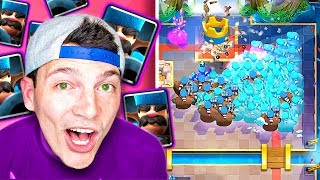 CRAZY HUNTERS!! (Clash Royale New Card Update Gameplay Nickatnyte)