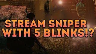 Dead by Daylight SURVIVOR! - STREAM SNIPER WITH 5 BLINKS!