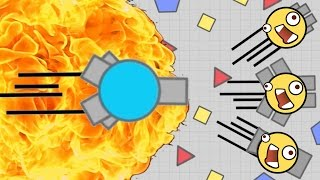 FASTEST TANK Vs ARENA CLOSERS - Slamming Into Other Tanks - Diep.io Booster Gameplay!