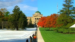 Campus during all 4 seasons