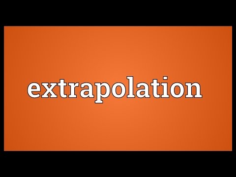 Extrapolation Meaning