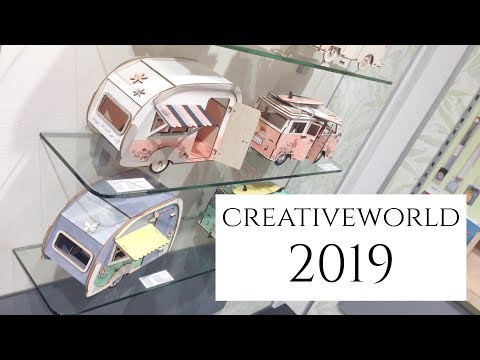 Creativeworld 2019 in Frankfurt | führende Fachmesse für die Kreativbranche | Führung und Neuheiten
