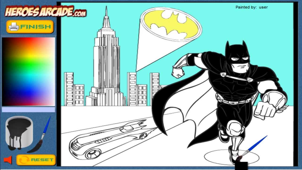 Batman Coloring Pages Online - YouTube