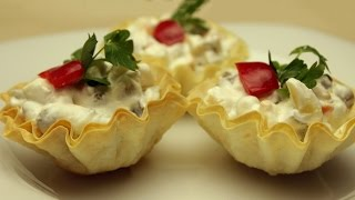 Turkish-style Potato Salad Recipe - Served In Edible Cups