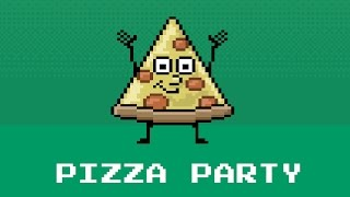 Pizza Party with Root Beer Float! 8bit Retro Videogame Animation Kids Music Video