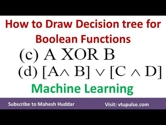 2. How to build a decision Tree for Boolean Function | Machine Learning by Mahesh Huddar mp4