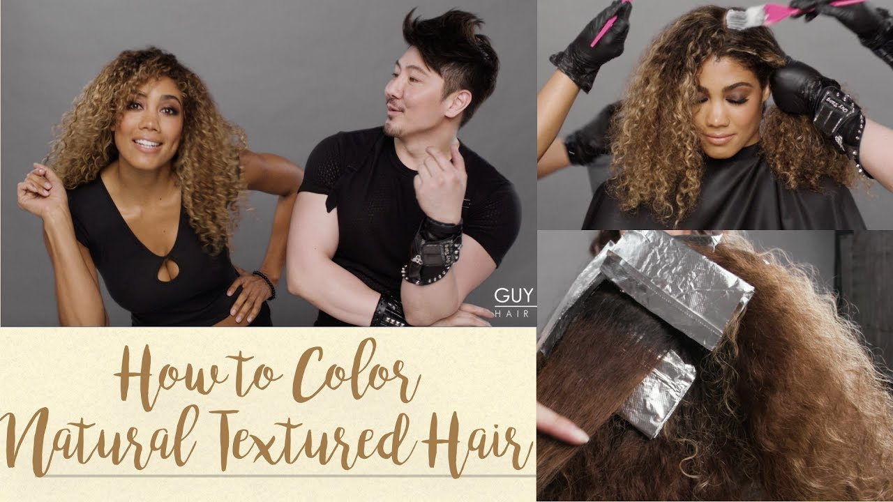 How To Color Natural Textured Hair Youtube