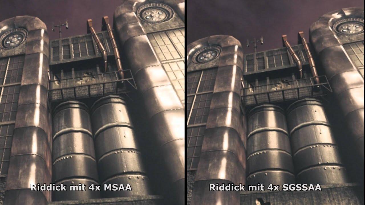 Riddick (OpenGL): 4x MSAA vs. 4x SGSSAA - YouTube