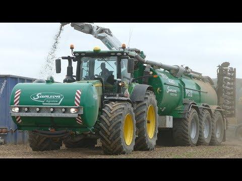 John Deere 8370R Woking Hard in The Field w/ Samson PG II 27 HWD & Front Barrel | MBA Agro | DK Agri