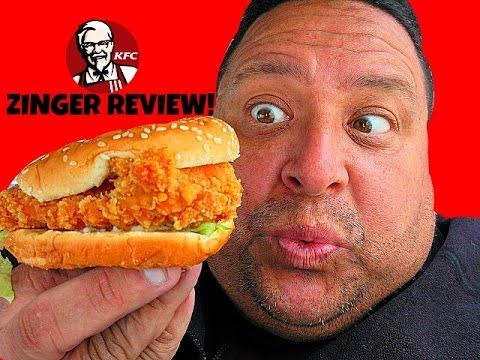 KFC® World Famous ZINGER CHICKEN SANDWICH Review!