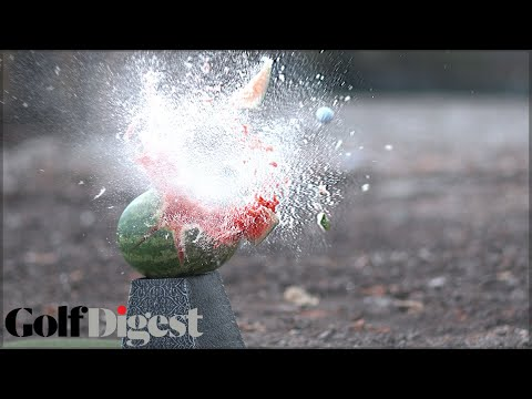 Long Drive Champ Jeff Flagg Destroys Stuff with Golf Balls in Slow Motion | Golf Assassins