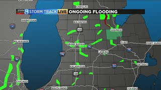 Flood conditions around West Michigan