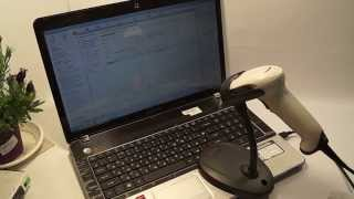 Сканер Honeywell Voyager 1250g подключение работа 1С(Сканер штрих кода работает как в режиме клавиатура так и в virtual com. Переключение режимов можно осуществить..., 2014-05-04T19:28:15.000Z)