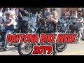 Daytona Bike Week 2019 from Main Street in Daytona Beach. Lots of hot bikes, bikers, biker girls.