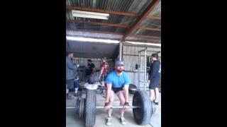 Axle Deadlift 250kg (1RM) PR