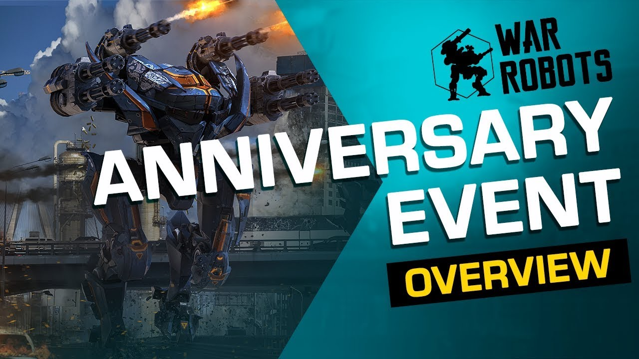 5th Anniversary Event Overview | War Robots (new mode, robots, gifts & skins)