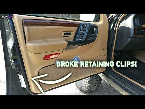 Loose Door Panel Fix 1993 98 Jeep Grand Cherokee Youtube