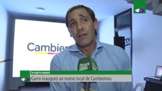Garro inauguró un nuevo local de Cambiemos