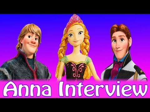 Frozen Interview with Princess Anna! Q & A about Disney Queen Elsa Kristoff and More!