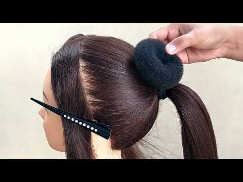 beautiful-!!-bun-hairstyle-for-girls-||-wedding-&-function-bun-hairstyles-|-كعكة-تصفيفة-الشعر