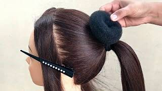 BEAUTIFUL !! BUN HAIRSTYLE FOR GIRLS || WEDDING & FUNCTION  BUN HAIRSTYLES | كعكة تصفيفة الشعر
