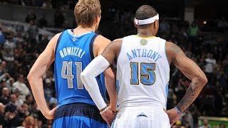 Carmelo Anthony vs Dirk Nowitzki Full Highlights 2009 WCSF G4 Nuggets at Mavericks - 85 Pts Combind
