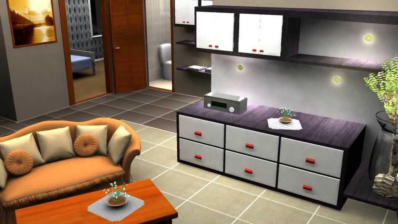 3D Maya House Interior Visualisation 2009  YouTube