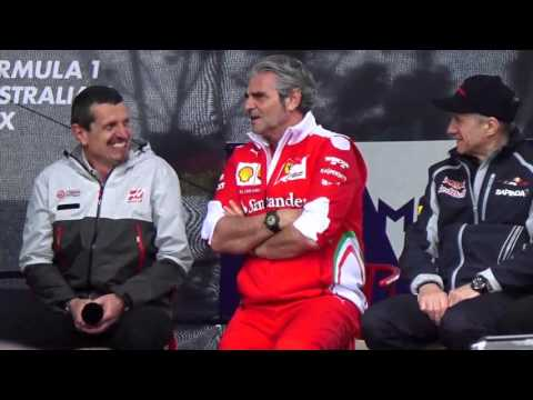 Funny moments from the Team Principals Fan Forum Australian GP 2016 Melbourne Fri 18 Mar 2016