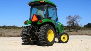 John Deere 3720 Cab Tractor, 44hp, 4WD, Good R4 Tires, HST Transmission