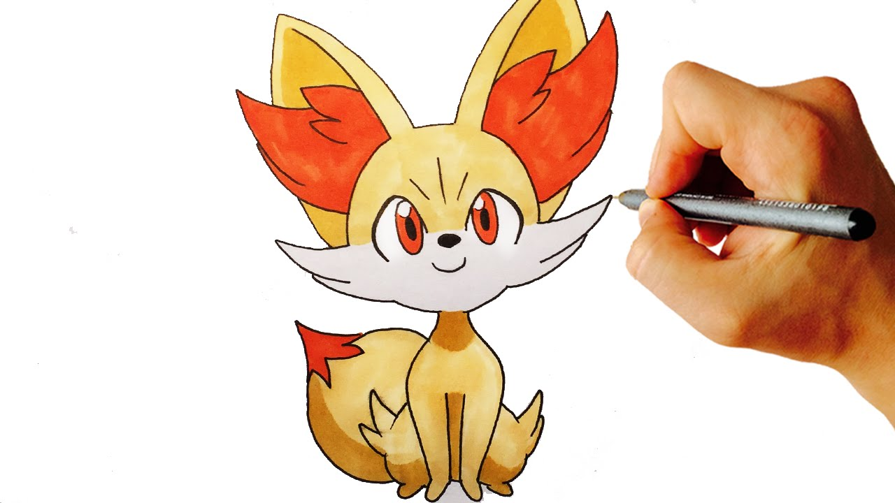 how to draw fennekin from pokemon x y 6 gen easy step by step drawing youtube