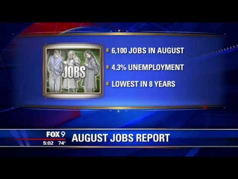 [FOX 9 News] State unemployment rate at its lowest in 8 years