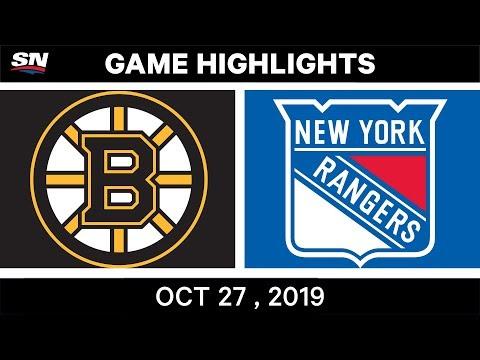 NHL Highlights | Bruins Vs. Rangers– Oct. 27, 2019