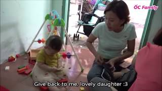 How Cute Baby Behave When Meeting Stranger Beautiful Lady   ỐC Family