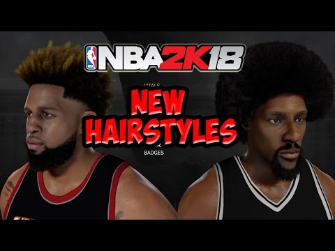 NEW HAIRSTYLES NBA 2K18 | DESIGNS , AFROS , DYED DREADS !!! FINALLY LET US PUT ON MYPLAYER  @BELUBA