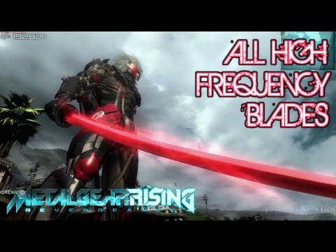 metal gear rising revengeance all highfrequency blades