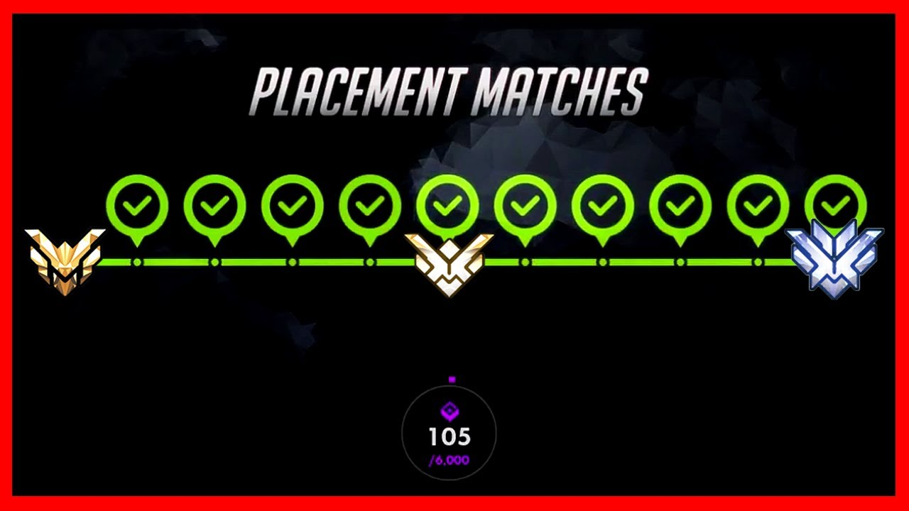 What Happens When You Win All 10 Placements OVERWATCH SEASON 5 COMPETITIVE PLACEMENT GAMES