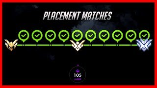 What Happens When You Win All 10 Placements? OVERWATCH SEASON 5 COMPETITIVE PLACEMENT GAMES!!