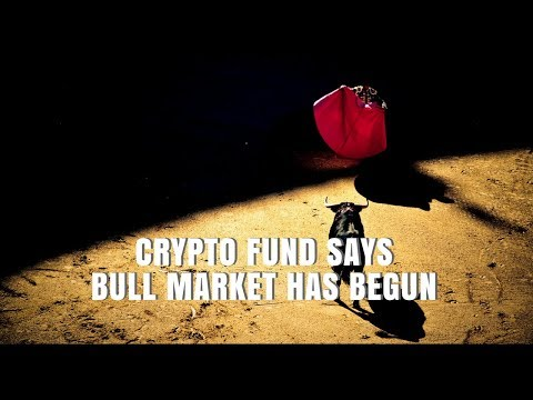 Crypto fund says bull market has begun