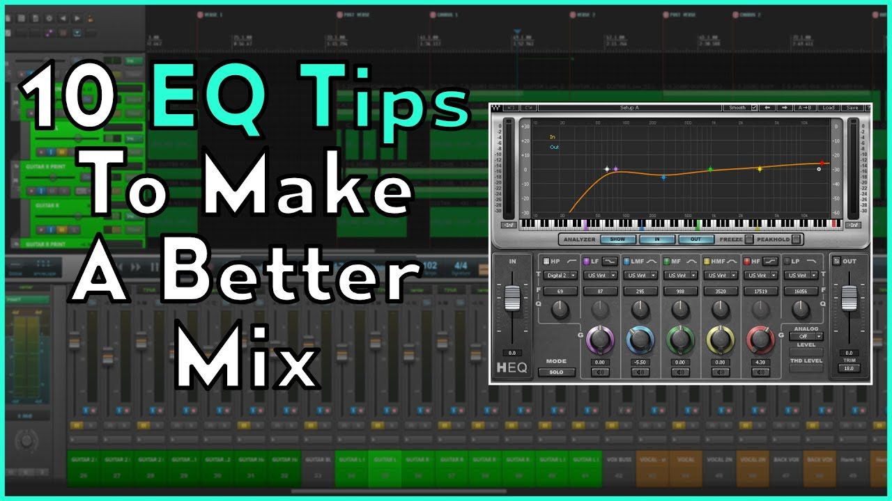 Getting a better mix! 10 EQ tips to make a better mix!!