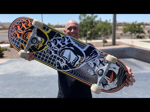 8.8in x 31.95in TRANSCEND VX DECK PRODUCT CHALLENGE w/ ANDREW CANNON! | Santa Cruz Skateboards